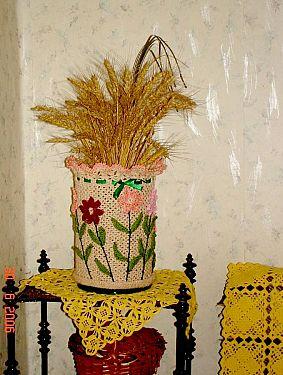 Кашпо для горшочка (вязание)