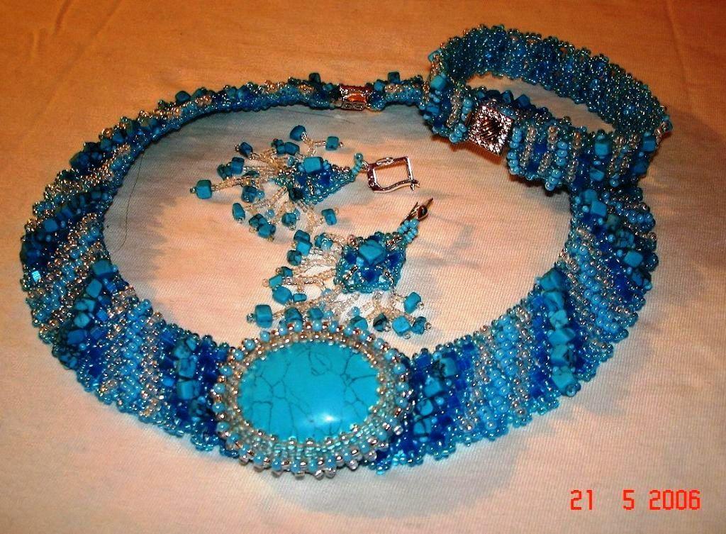 Бисероплетение ожерелье браслет